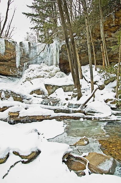 Winter on Cucumber Run Below the Falls
