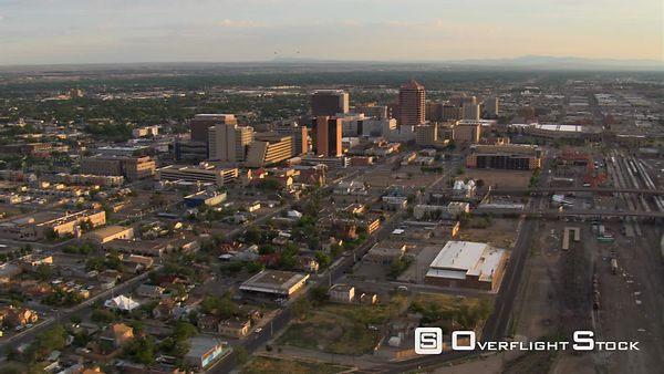 Approaching downtown Albuquerque in afternoon light. Shot n 2008.