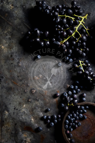 Dark Grapes and Blueberries