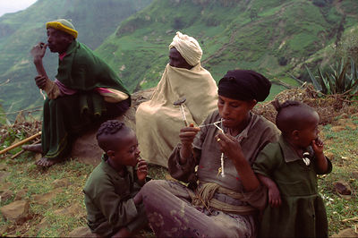 An Ethiopian family in the Northern Highlands