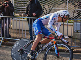 The Cyclist Soupe Geoffrey- Paris Nice 2013 Prologue in Houilles