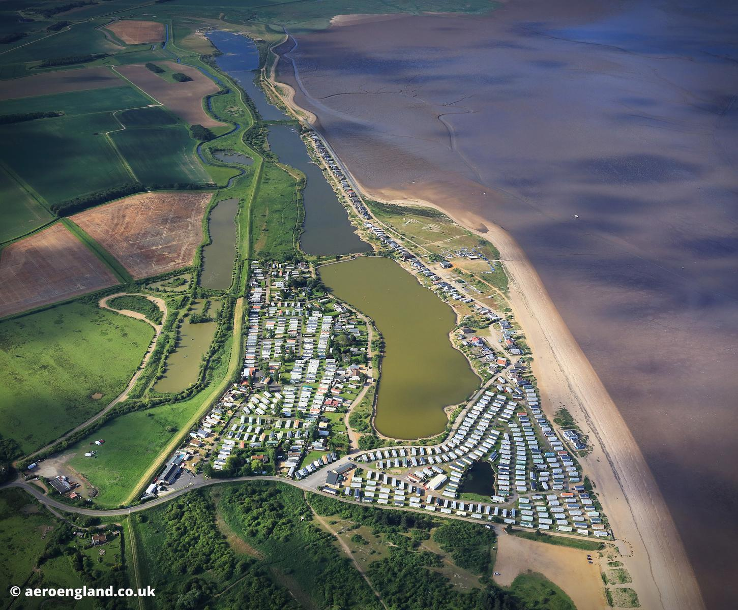 aerial photograph of  Shepherd's Port Norfolk UK