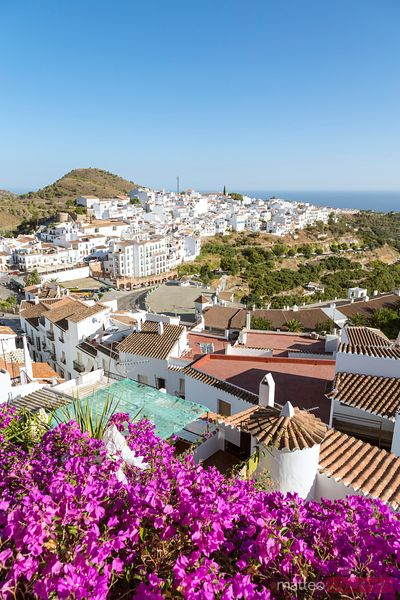 High angle view of white town, Andalusia, Spain