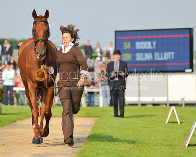 Selina Elliott and Bodidily - 2nd Inspection - Burghley 2010