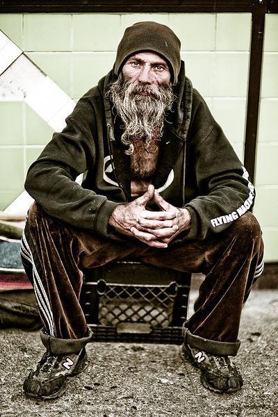 Homeless Man. San Francisco, CA.