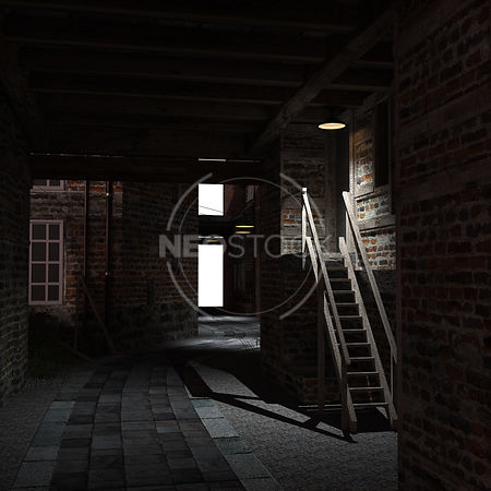 Old_London_Alley_-_01_-_Night