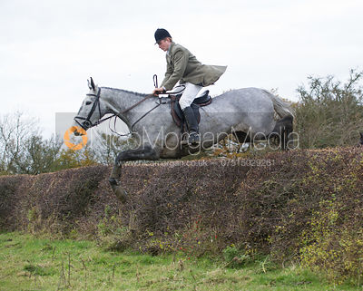 William Grant jumping a big Cottesmore hedge