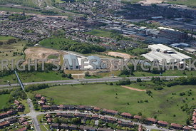 Rochdale aerial photograph of the Crown Business Park with the A627 ( M ) in the foreground