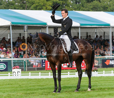 Kai Ruder and LEPRINCE DES BOIS - dressage phase,  Land Rover Burghley Horse Trials, 5th September 2013.