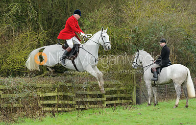 Andrew Osborne jumping a hedge from Town Park Farm