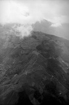 COLOMBIA Andes Aerial view of electricity pylons in the southern Andean region of Colombia 01/1997  Picture © Jon Mitchell /...