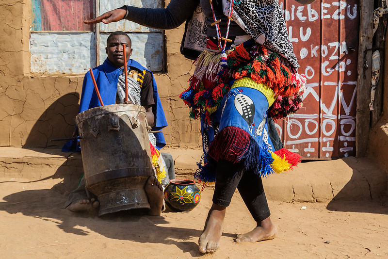 Sangoma Students Dancing