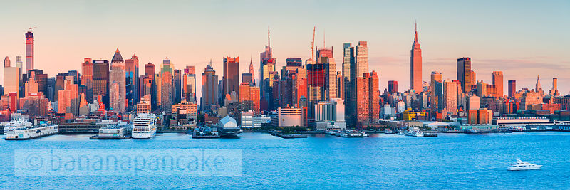 Mid Manhattan skyline from New Jersey, New York - BP4614