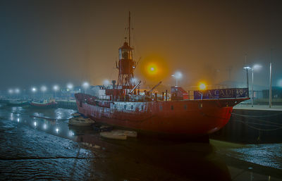 Colne lightship in the fog