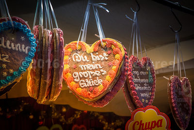 Gingerbread Hearts at the White Magic Christmas Market in Hamburg