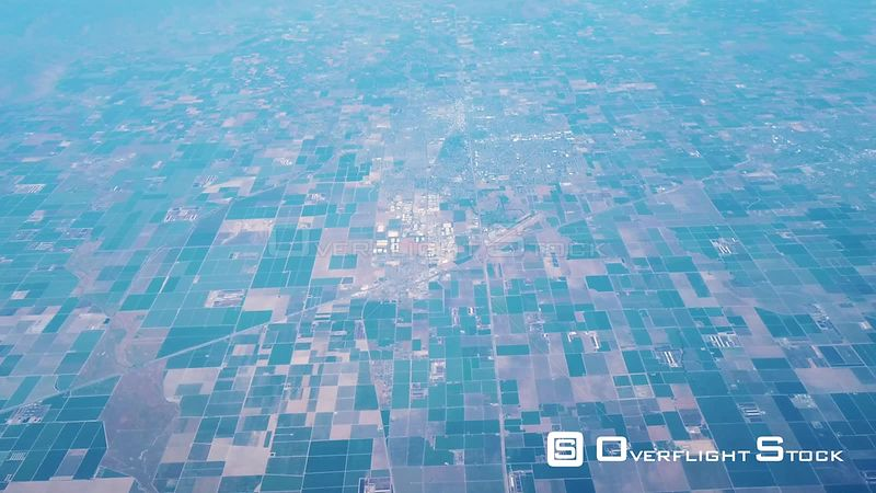 Endless Farms, Agricultural Lands and Town Of Visalia In California's Central Valley