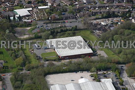 Oldham aerial photograph of  the Quantum factory Salmon Fields