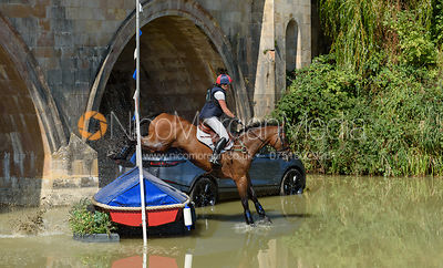 Rebecca Gibbs and DE BEERS DILLETANTE, cross country phase, Land Rover Burghley Horse Trials 2018