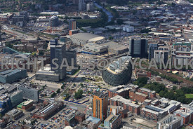 Manchester view of the redevelopment of Angel Square and the new Offices of the Cooperative Societies   headquarters in north...