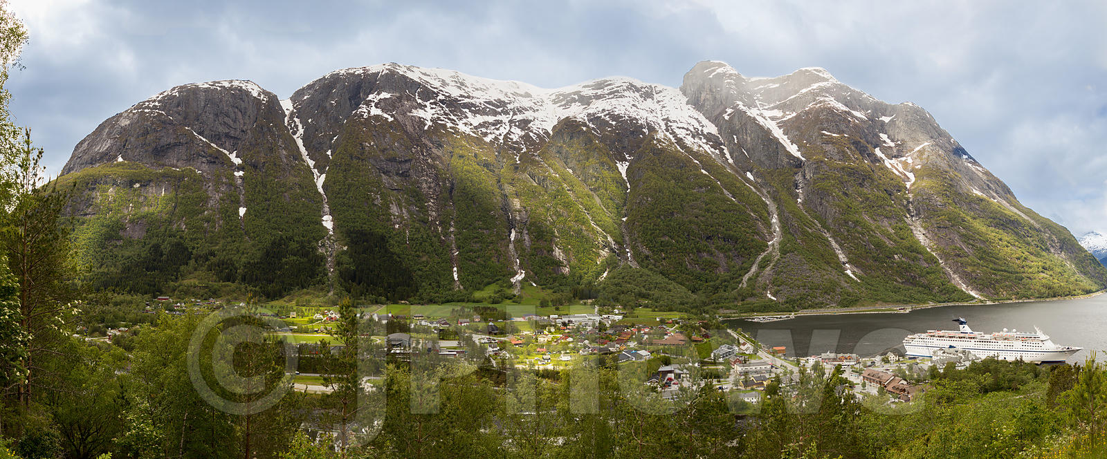 Eidfjord ia a Small Village at the end of the Hardangerfjord