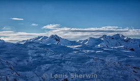 The French Alps covered in snow