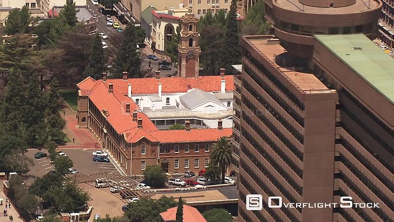 Aerial shot of the National Afrikaans Literature Museum in Bloemfontein Bloemfontein Free State South Africa