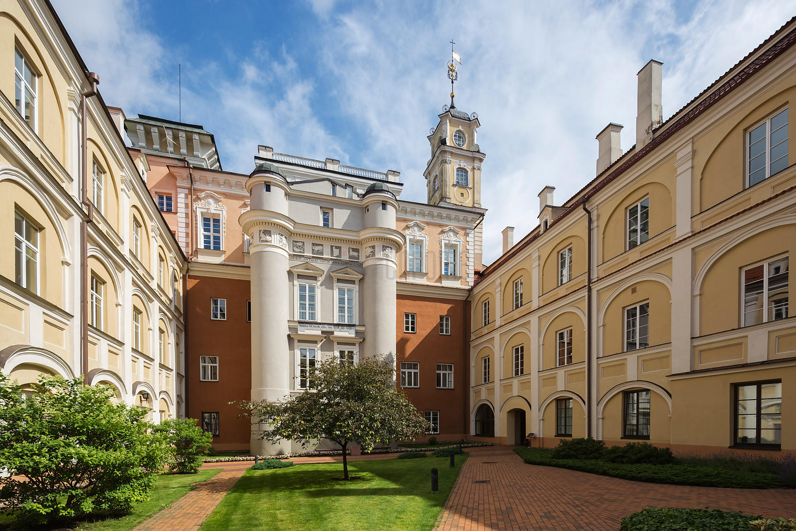 Courtyard of the Observatory at the University of Vilnius