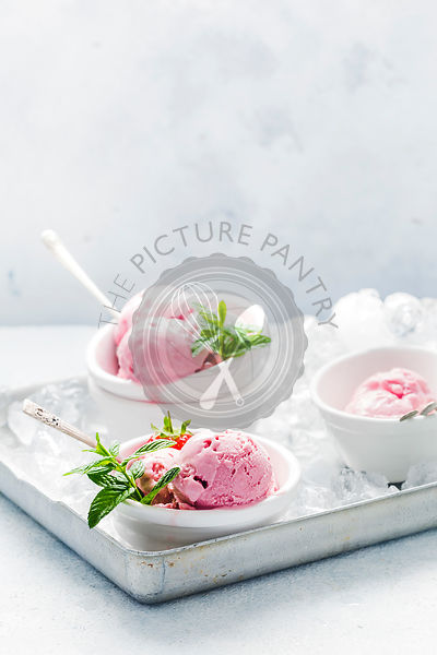 Strawberry Ice cream made with Cottage cheese
