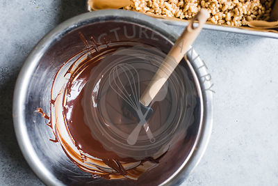 Melted Chocolate in a mixing bowl