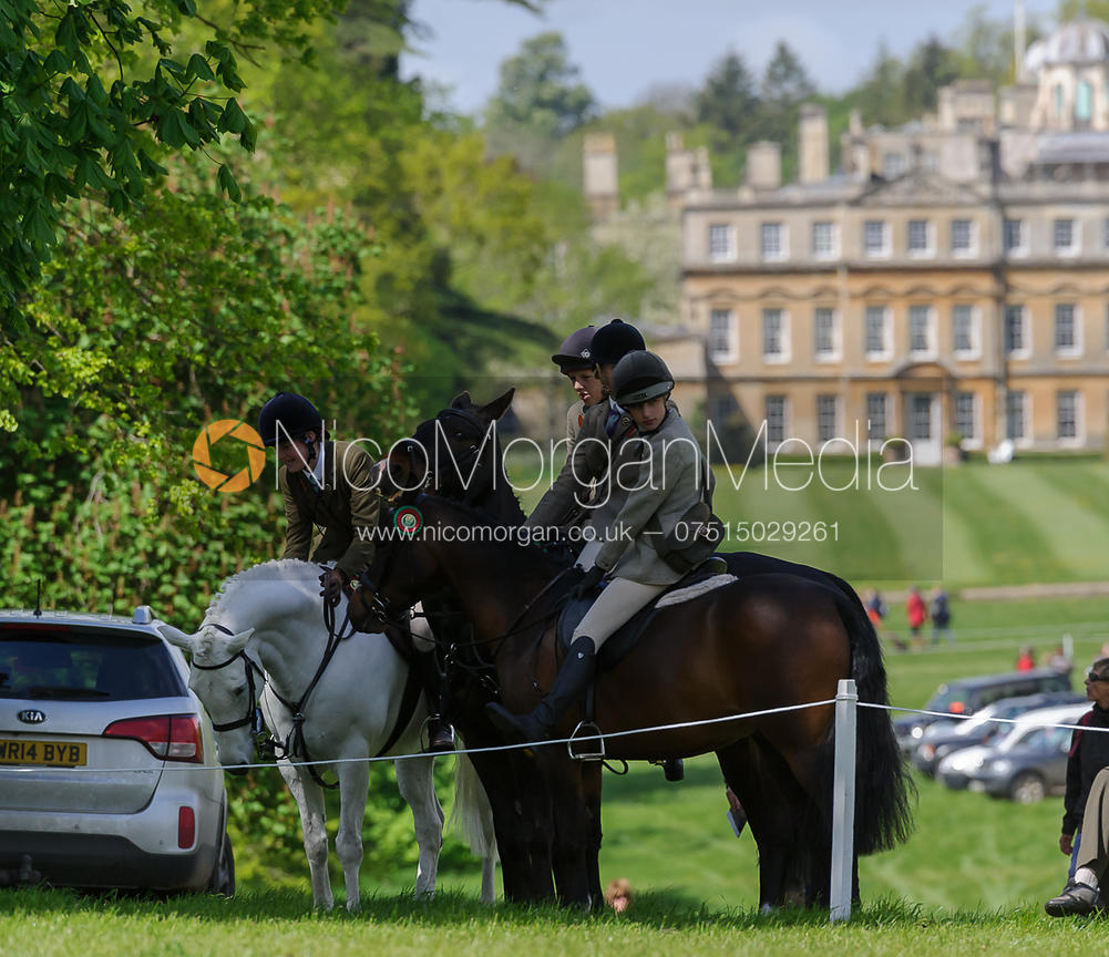 Pony clubbers in front of the Badminton House.
