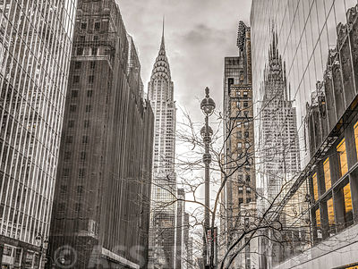 New York city scape with Chrysler Building