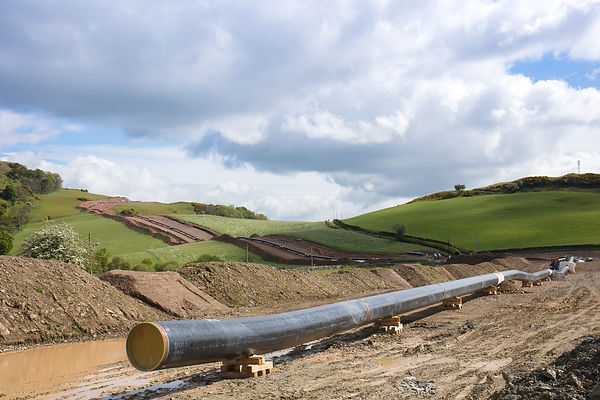 South West Scotland pipeline construction