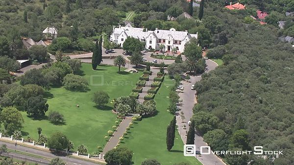 Aerial shot of a large house in Bloemfontein Bloemfontein Free State South Africa