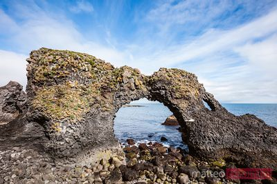 Natural rocky arch, Snaefellsnes peninsula, Iceland