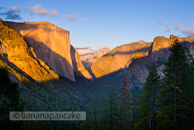 Yosemite valley from Inspiration Point, Yosemite National Park, California, USA