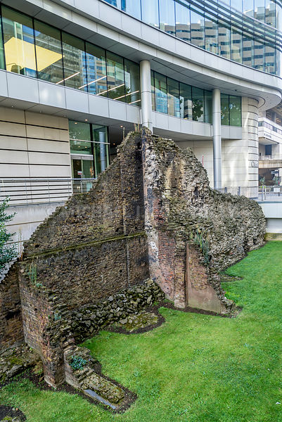 Ruins Of A Roman Wall (Vertical)- London, England