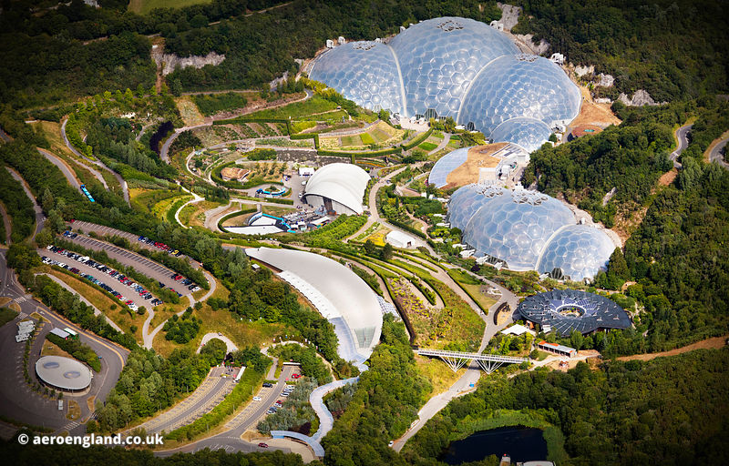 Eden Project from the air