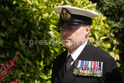 Royal Navy Officer on the VE70 Veteran's Parade