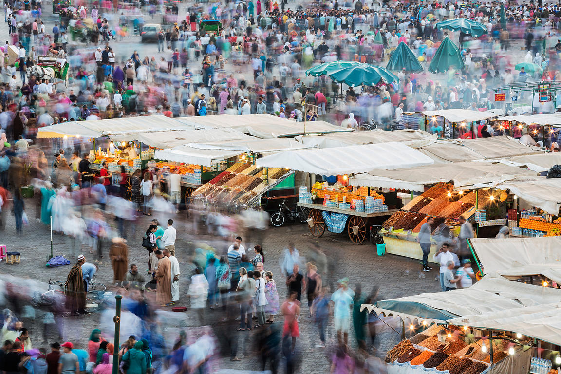 The Market at Marrakech at Dusk