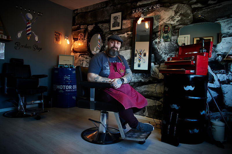 Project Daily Day 786.Barber Jason Taylor from Lucky 13 Barbers Shop in Pontefract is offering autistic friendly barbering se...