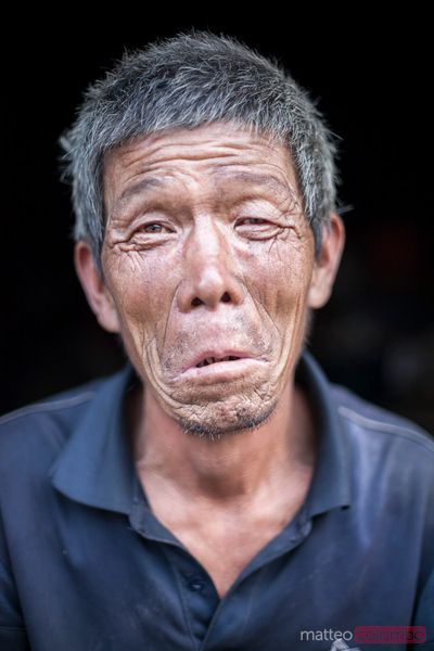 Portrait of chinese worker