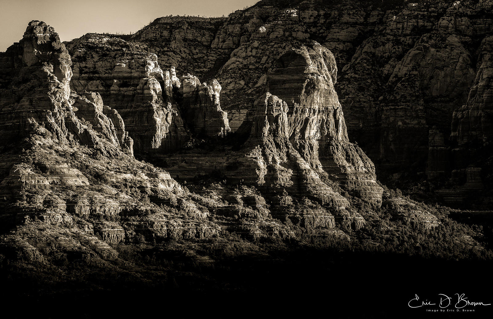 Sedona Buttes in Black & White