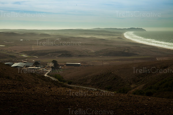 Idyllic view of Point Reyes National Seashore in Northern California