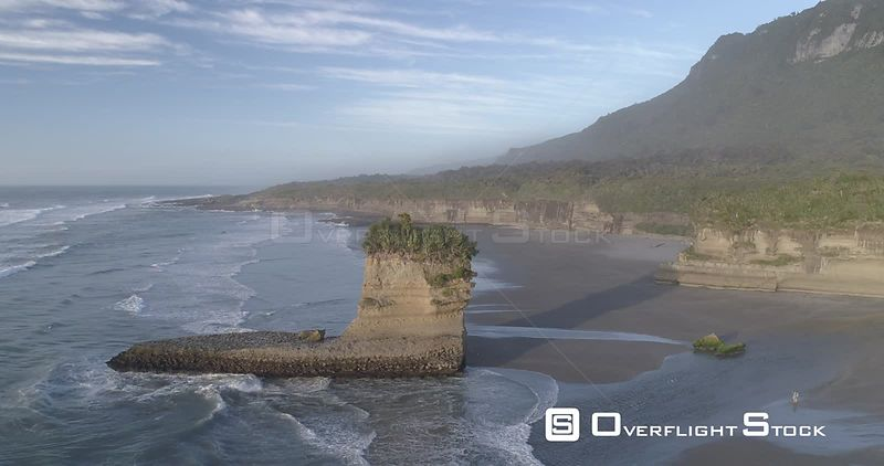 Drone Video Punakaiki Beach New Zealand