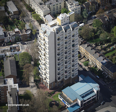 Edrich House Stockwell London aerial photograph