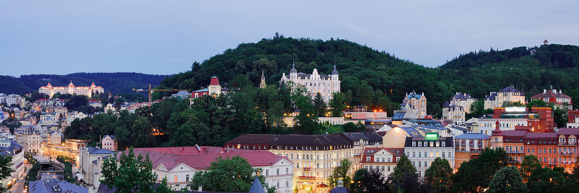 Elevated View of Hotel and Spa District in Karlovy Vary