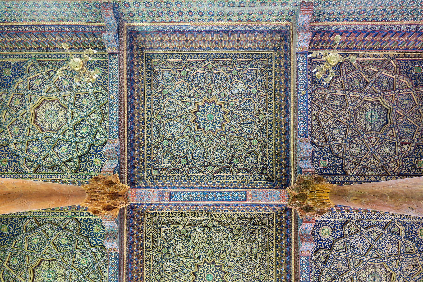 Ceiling of the Women's Mosque at the Baha-ud-Din Naqshband Bukhari Memorial