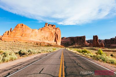 Road, Arches National Park, Utah, Stati Uniti