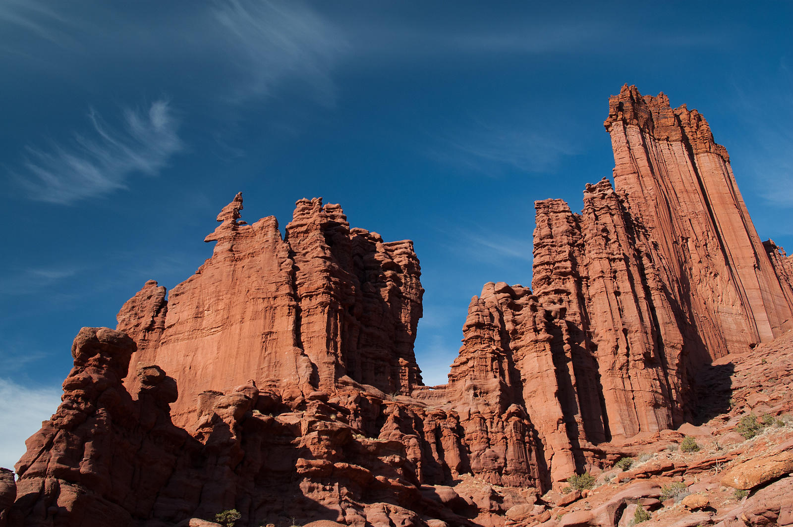 Canyon de Fisher towers aux USA