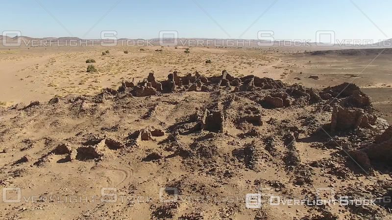 Hassis-ba-hallou Is Close to Guelb Mharch and Jbel Bou Lachrhal. Ruins of an Abandoned Village, Morocco - Northern Ramlia - F...